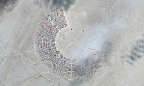 Burning Man 2012 :: Hexayurt Density Map by thejaymo (by-sa)